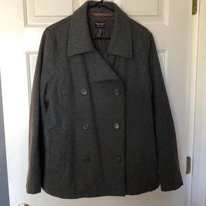 American Eagle Women's Gray Wool Blend Pea Coat